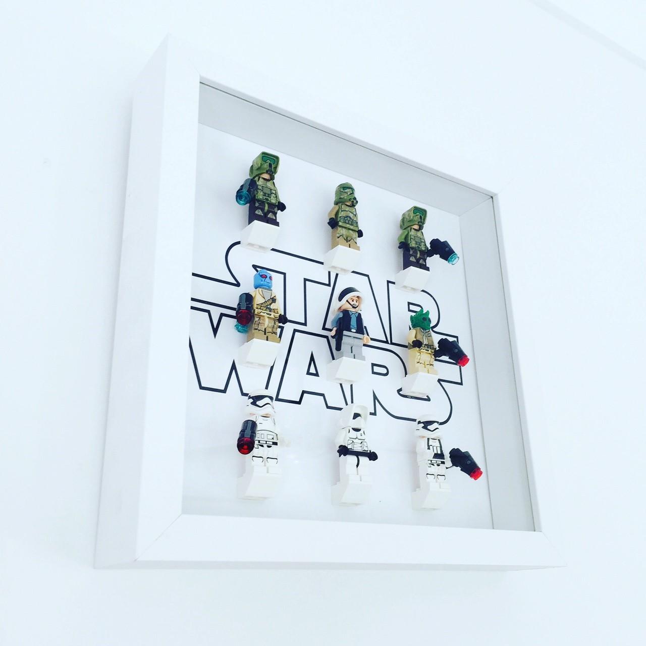 Star Wars (white frame) – Minifig Frames – Hand-made, custom-made ...